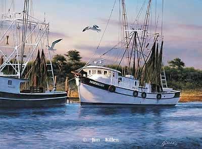 Ship Painting by Jim Killen, Miss Karen