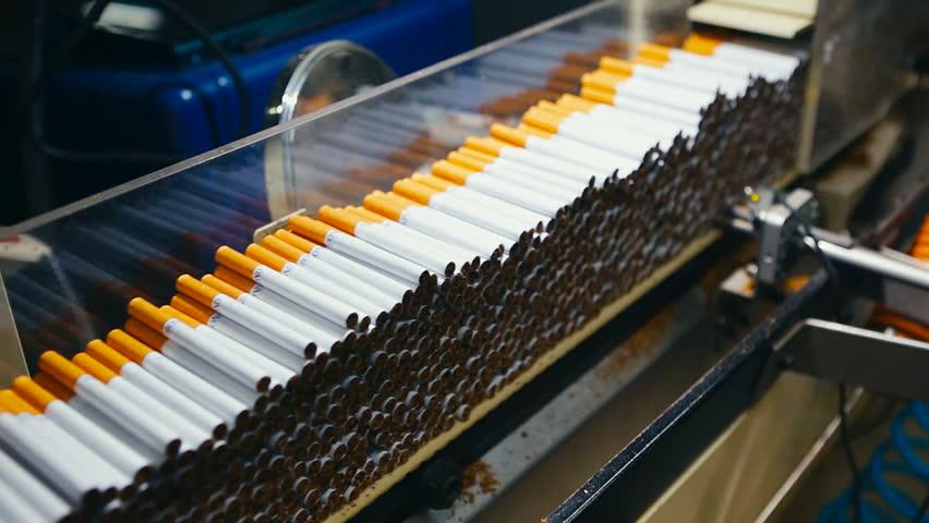 process of cigarettes manufacture