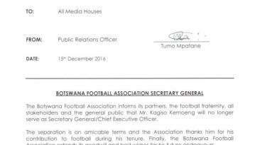 Kagiso Kemoeng fired from his BFA CEO post