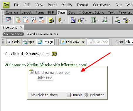 Screenshot dari kode navigator