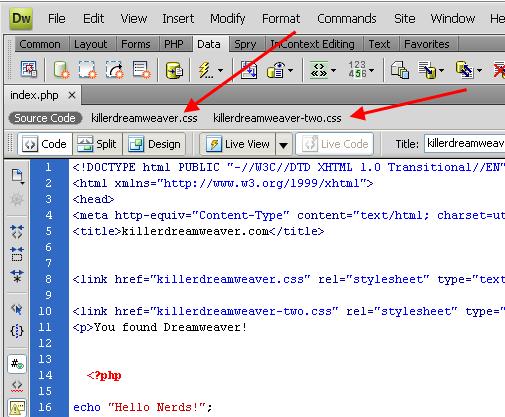 Screenshot dari file terkait