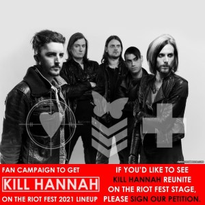 Kill Hannah hoping to REUNITE for Riot Fest 2021