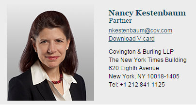 The Sociopathic Business Model™ Covington Partner Nancy Kestenbaum