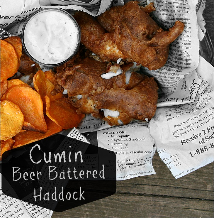 Cumin Beer Battered Haddock