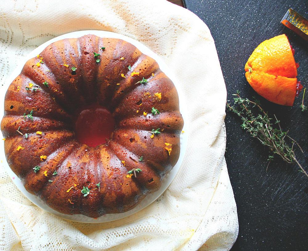earl grey and blood orange bundt cake