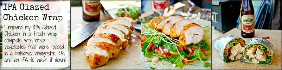 IPA Glazed Chicken Wrap