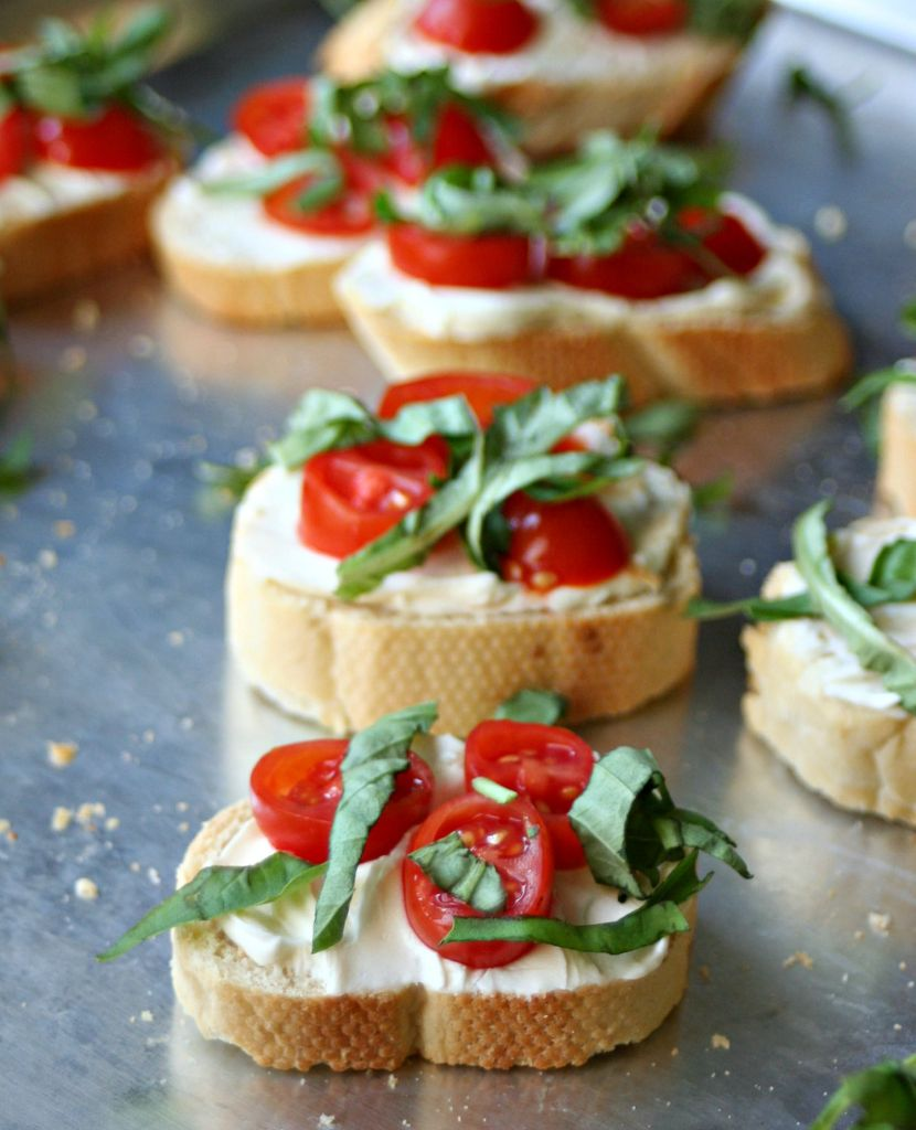Tomato Basil Crostinis 6