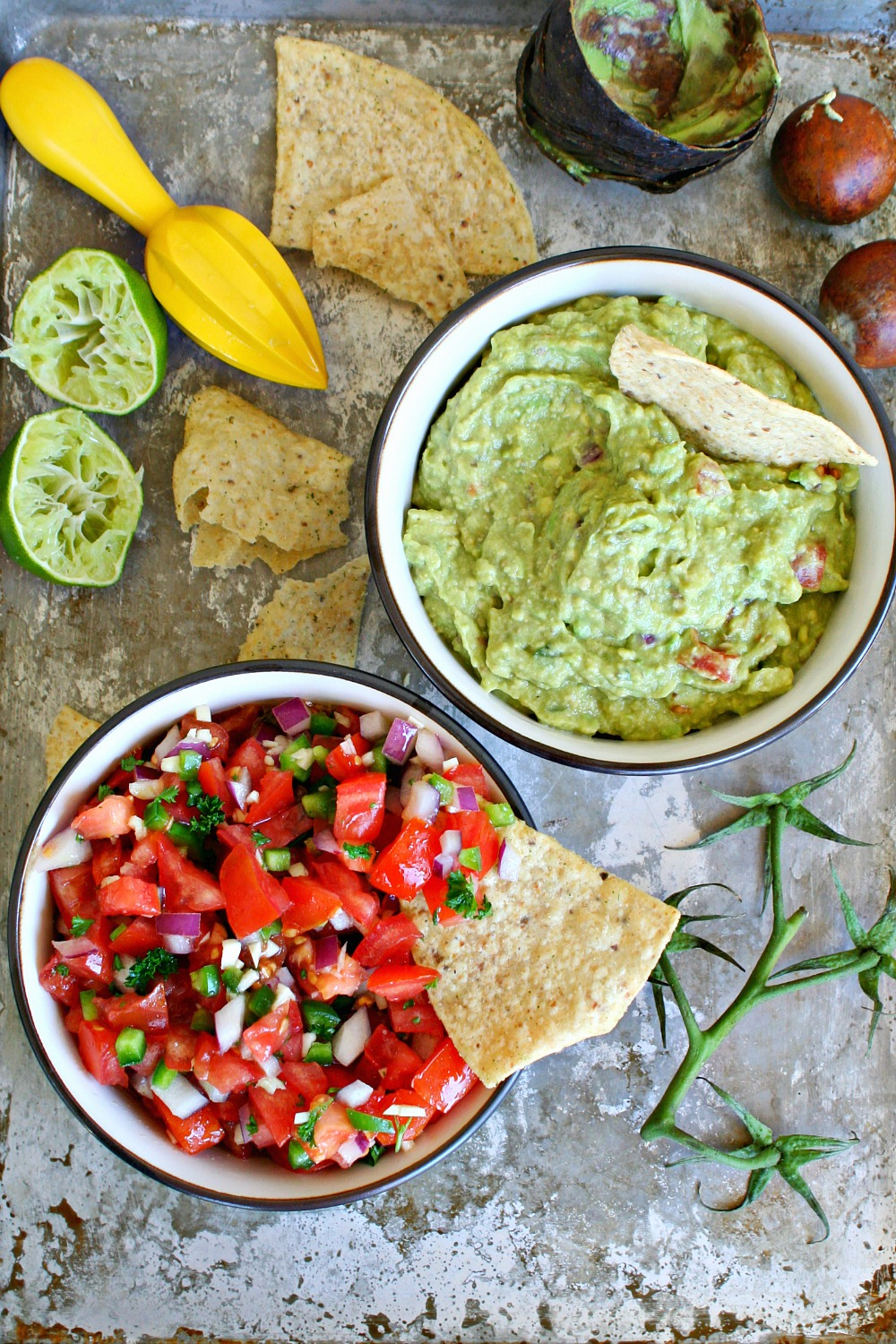 The Best Homemade Salsa and Guacamole Combo Ever | Killing Thyme