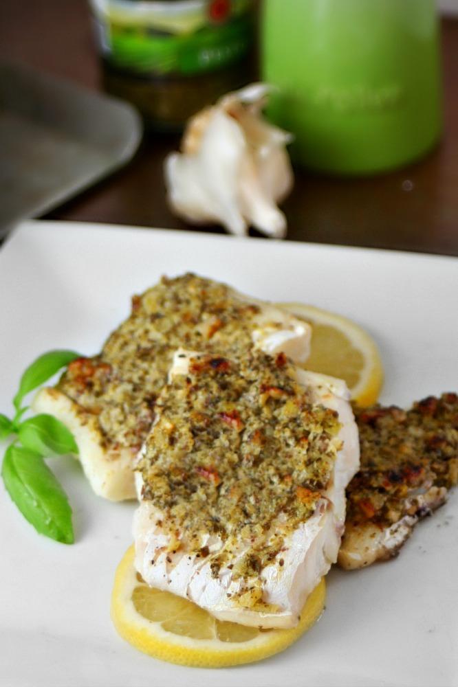 Pesto and Walnut Crusted Cod 2