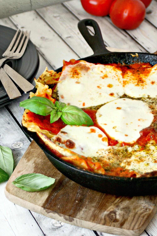 Quick Pesto and Tomato Skillet Lasagna 2
