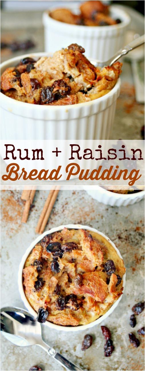 Rum + Raisin Bread Pudding Pinterest