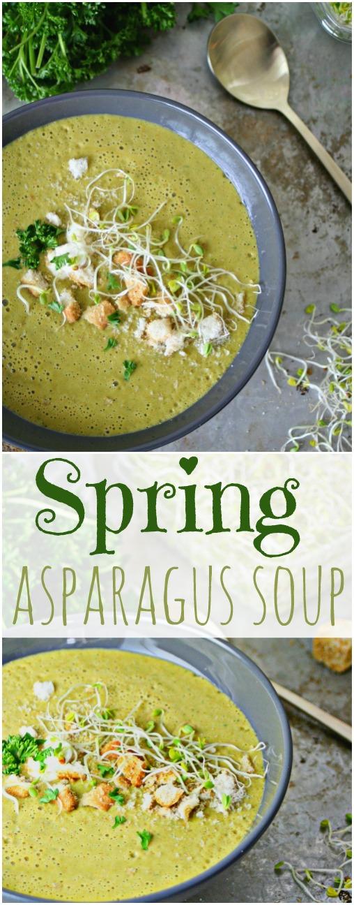 Spring Asparagus Soup Pinterest