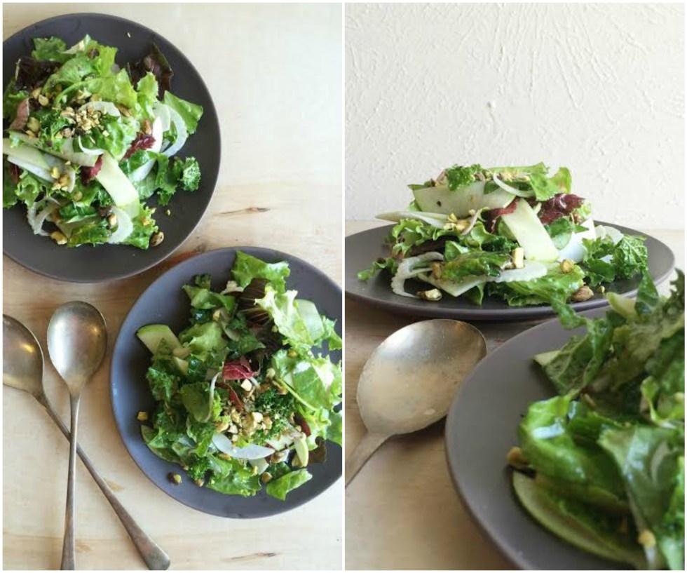 Turnip Salad Collage