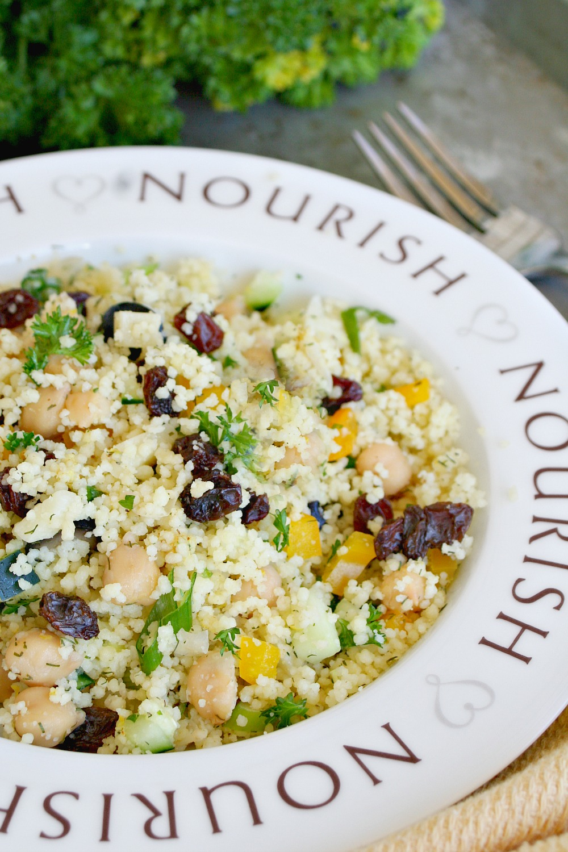 Garbanzo Bean and Raisin Couscous Salad 2