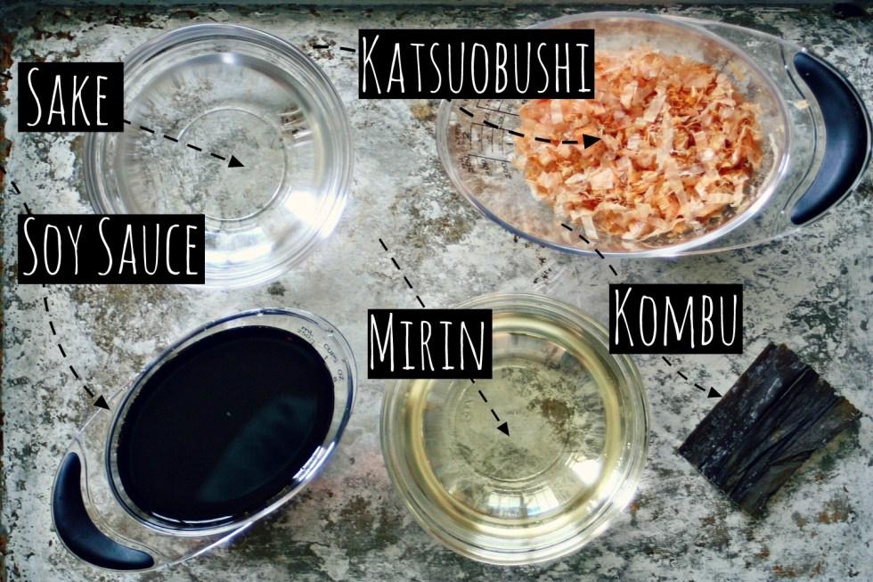 Mentsuyu Base Ingredients Chart
