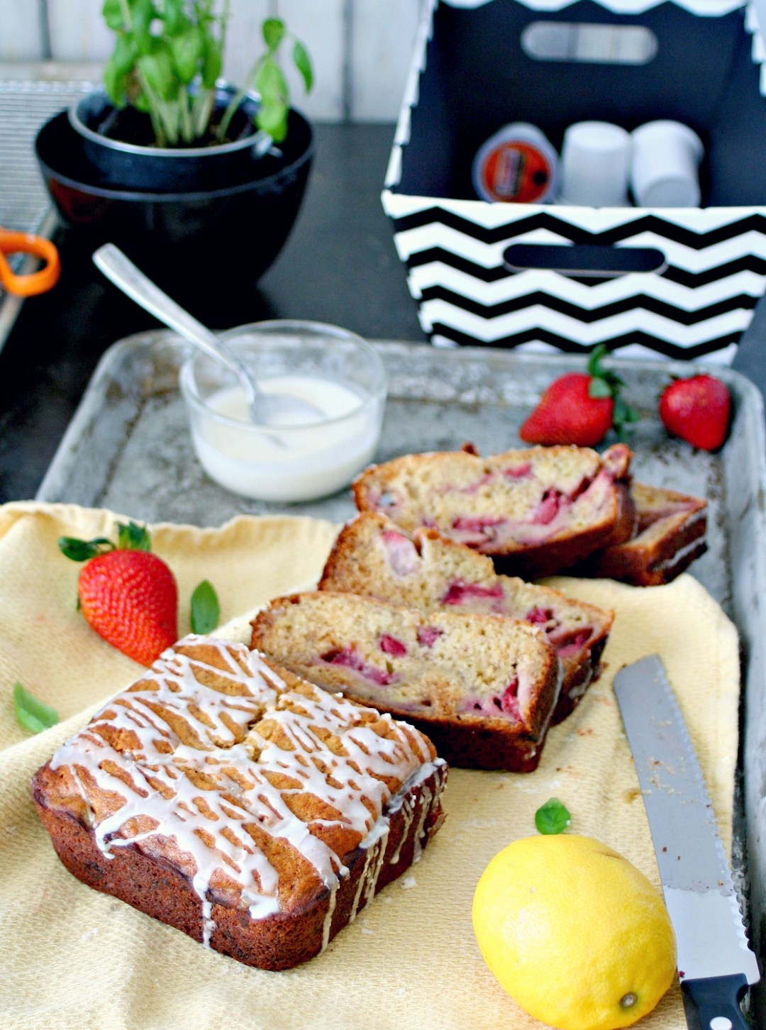 Strawberry Banana Bread 6