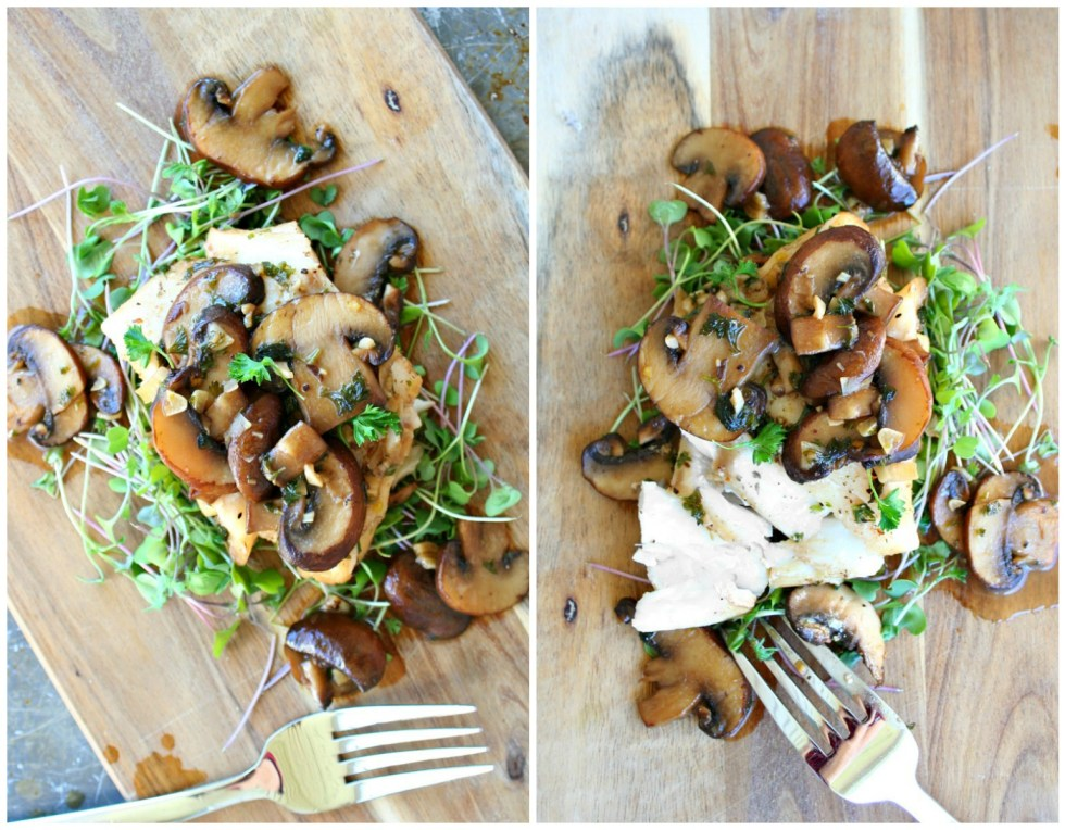 Cod with Beer and Mushroom Sauce Collage