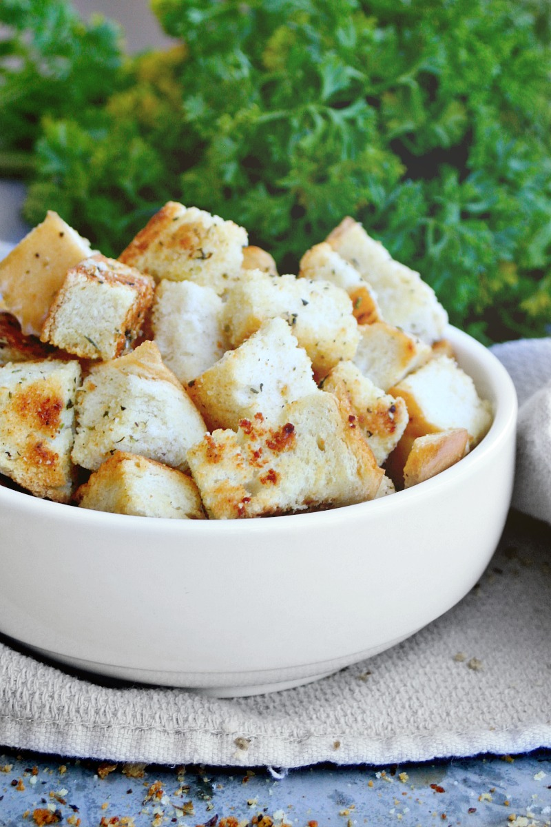 Homemade Croutons bowl 2