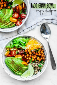Taco Grain Bowl with Crispy Chipotle Chickpeas