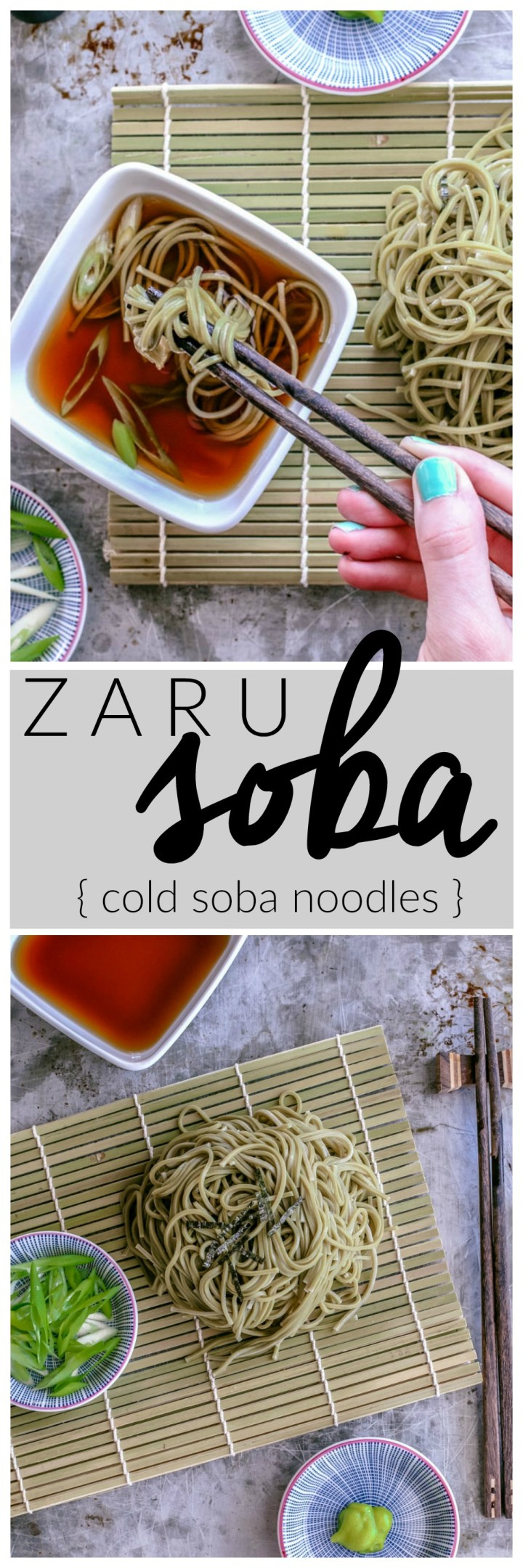 Zaru Soba { cold soba noodles } | Killing Thyme — This cool and simple Japanese dish is the perfect meal for those summer scorchers. Fill your belly and cool down at the same time with this slurp-worthy dish!
