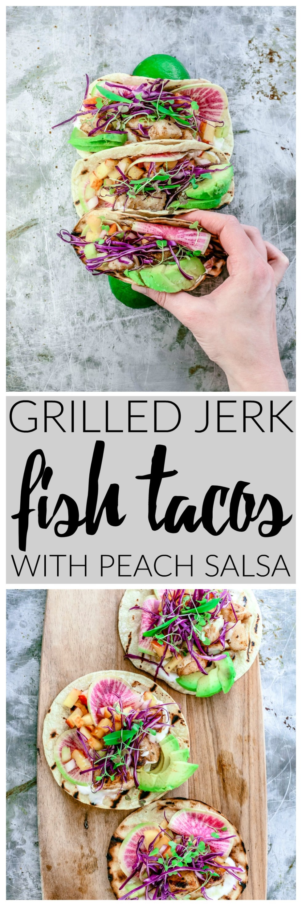 Grilled Jerk Fish Tacos With Tangy Peach Salsa | Killing Thyme
