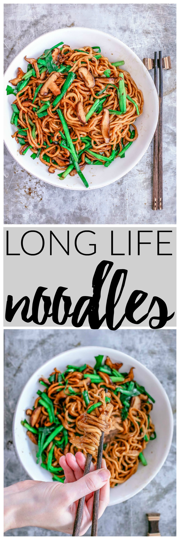 Long Life Noodles {Yi Mein} | Killing Thyme