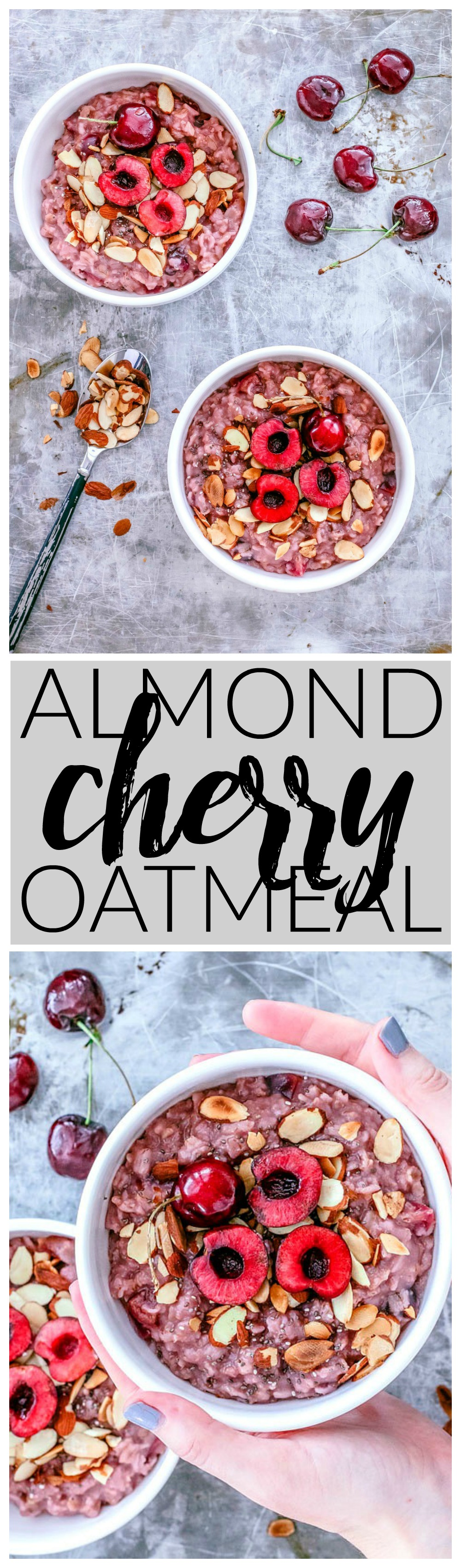 Almond Cherry Oatmeal | Killing Thyme