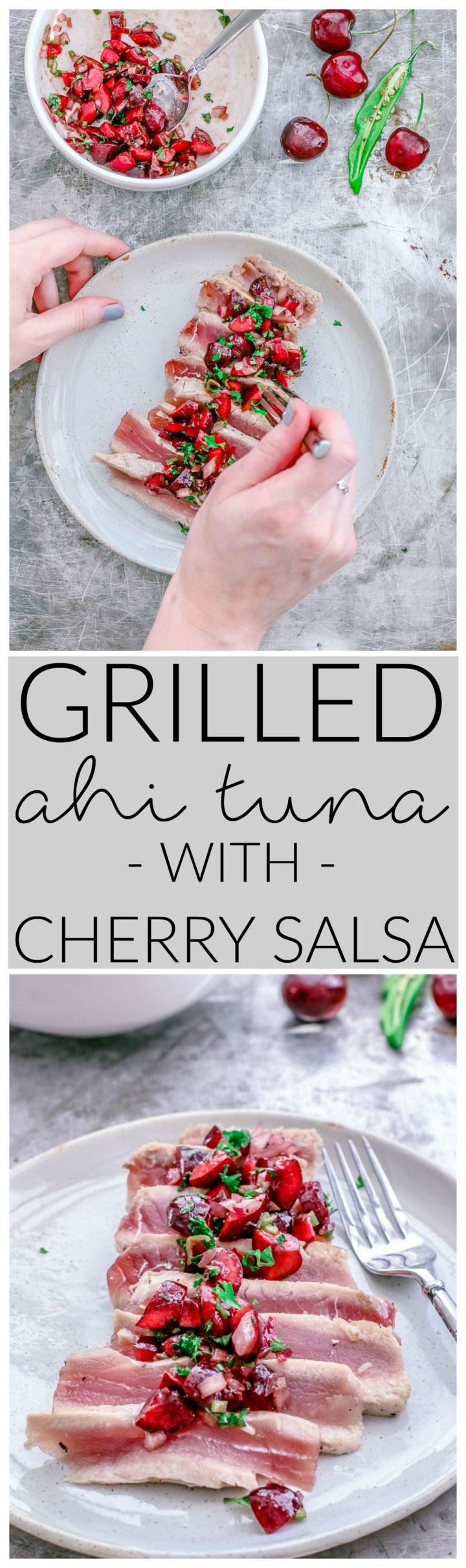 Grilled Ahi Tuna With Cherry Salsa   Killing Thyme