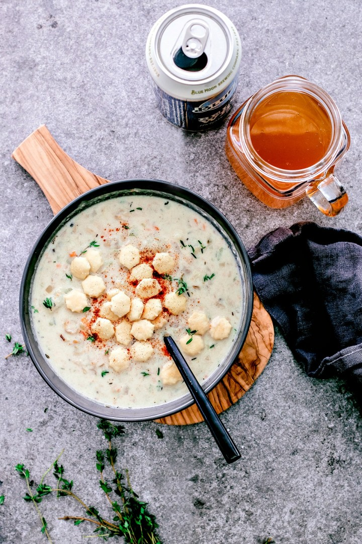 Easy Clam Chowder { With Beer } | Killing Thyme