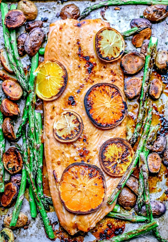 Easy Honey Citrus Sheet Pan Salmon