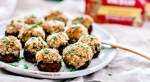 Stuffed mushrooms on a plate