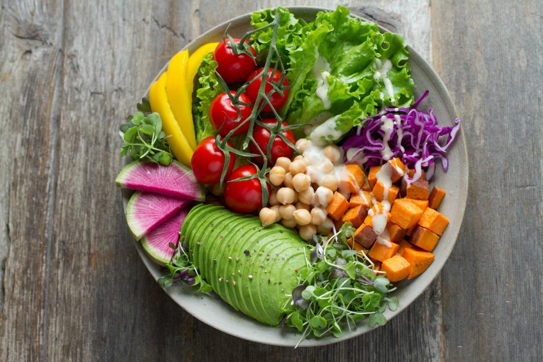 Bowl of fresh veggies.
