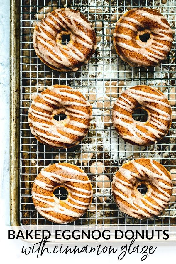Baked Eggnog Donuts With Cinnamon Glaze