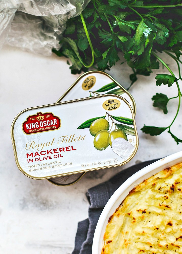 King Oscar canned mackerel packaging