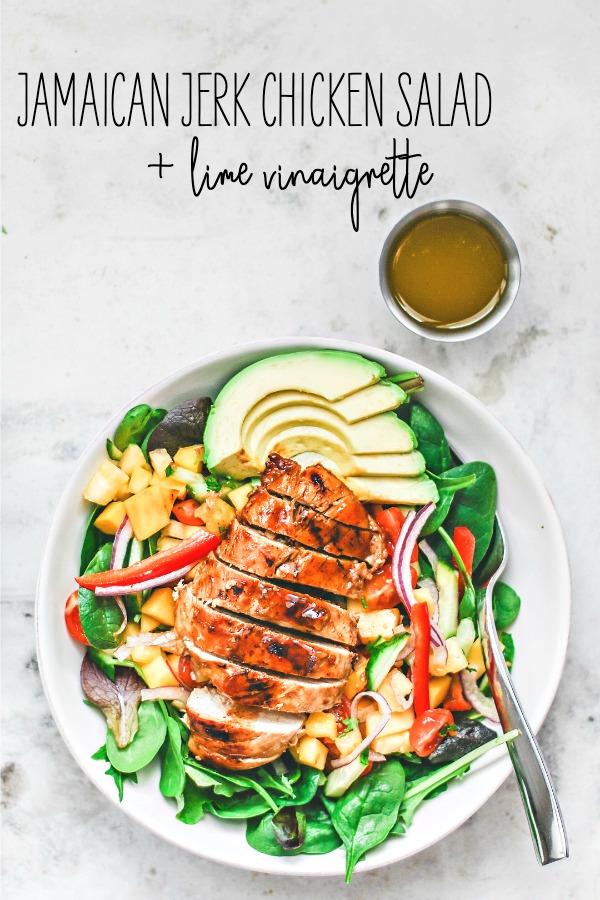 Jamaican Jerk Chicken Salad With Lime Vinaigrette