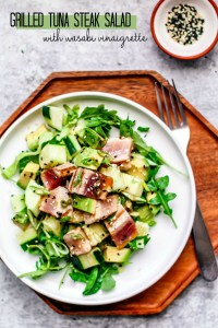Grilled Tuna Steak Salad with Wasabi Vinaigrette