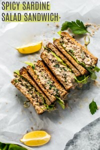 Spicy Sardine Salad Sandwich.