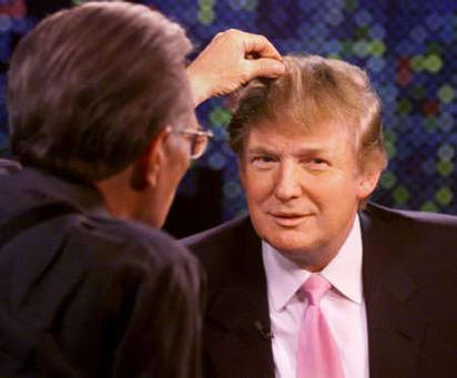 Donald Trump, his hair, and Larry King