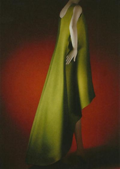 Balenciaga Green Silk Evening Dress