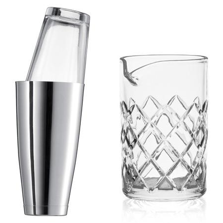 Shaken or stirred bar kit choices