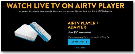 AIR TV SLING TV