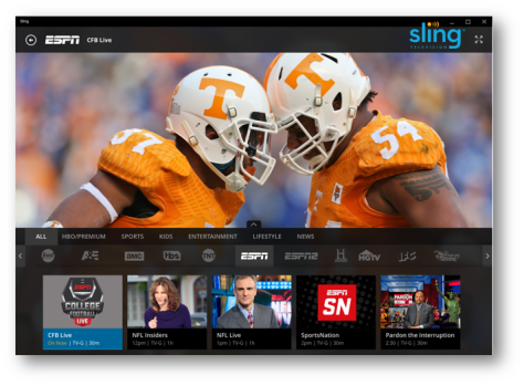 College Football on Sling TV