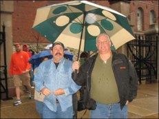 Musicluvah & Remmy Sharing An Umbrella