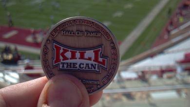 Photo of Scott And His HOF Coin Visit Memorial Stadium In Bloomington