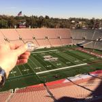 Luby And His Hall Of Fame Coin At The 2014 Rose Bowl