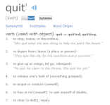 Quit Defined