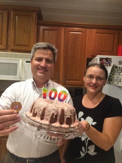 Gregor and Mrs. Gregor celebrating Hall of Fame