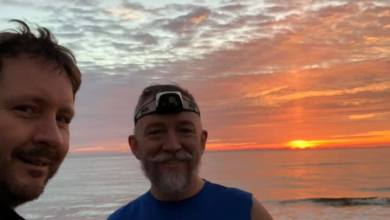 Photo of Hydro and Roy – Sunrise Before the Jekyll Island Marathon