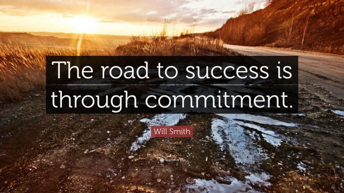 The Road To Success - Commitment