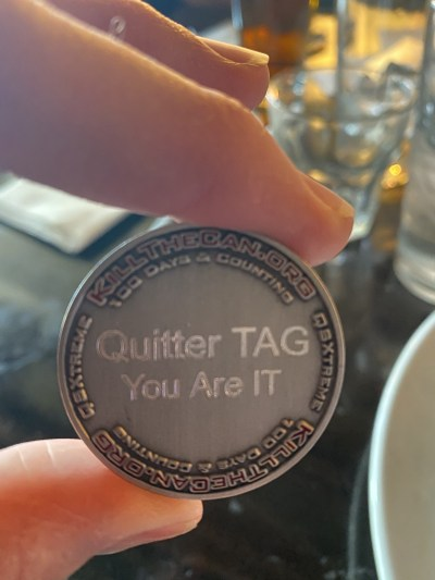 BBJ Quitter Tag Coin 5.12.2021